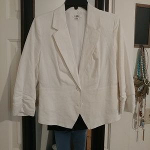 NWOT white linen Blazer